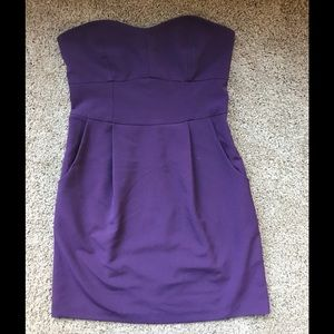 Violet strapless sweeheart neck a-line dress sz sm