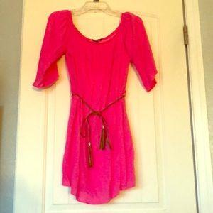 Dresses & Skirts - Women's Pink Dress with Belt