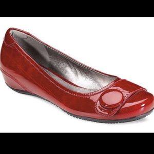 Ecco Bouillon Red Ballet Flats