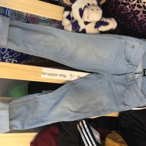 Hudson crop straight cuffed jeans