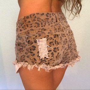 Tobi Cheetah Print Shorts