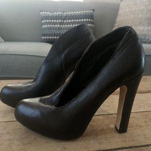 Matiko leather cut out platform heels