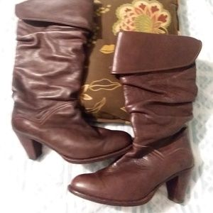 FRYE Dorado Slouch Boots 77580 Fold-Over Cuff Dark