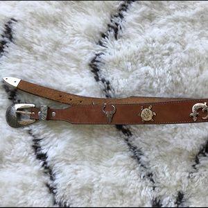 Vintage Leather Western Belt