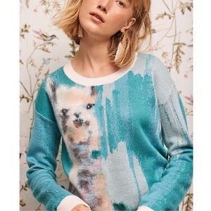 Anthropologie Farm Animal Pullover sweater llama