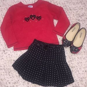 Girls red and black plaid shoes
