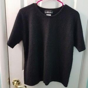 Sag Harbor black shirt sleeve sweater