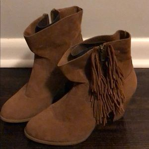 Western ankle booties barely worn!