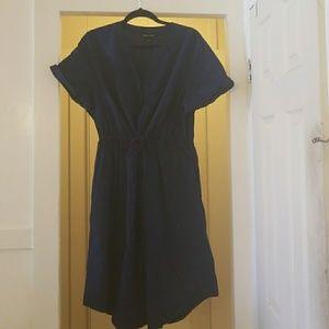 Lane Bryant Navy Shirt Dress