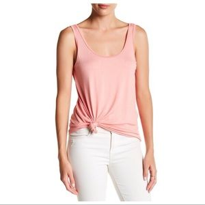Michael Stars Scoop Neck Tank in Salmon
