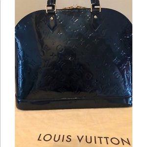 Louis Vuitton Bags - Louis Vuitton Bleu Nuit Verne s Alma GM Bag 90c80323633