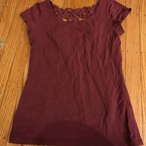 Garage Shirt with Low Cut Lace Back