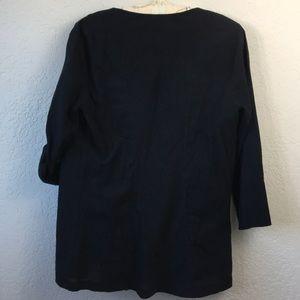 James Perse Tops - James Perse Standard Drape Front Open Shirt