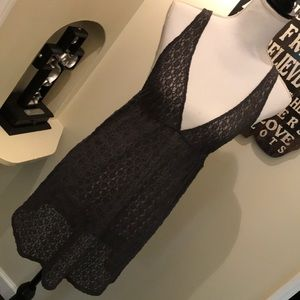 Intimately free People grey lace nighty gown large