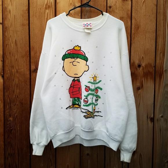 Vintage Sweaters Peanuts Charlie Brown Ugly Christmas Poshmark