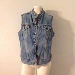 Vintage Levis Jean Jacket Vest M L