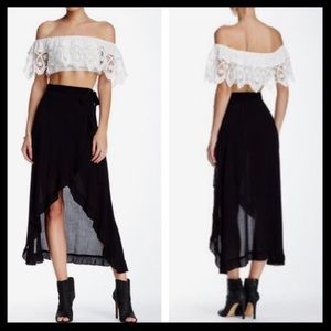 3 FOR $30 🛍 whyte eyelash // wrap maxi skirt