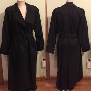 Christian Dior Classic Vintage Black Trench Coat