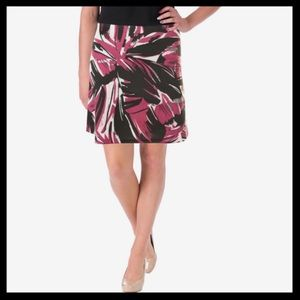 aqua // abstract print scuba a-line mini skirt NWT