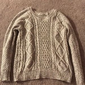 black and white stitched sweater!