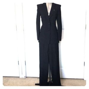 ESCADA COUTURE Black wool suit