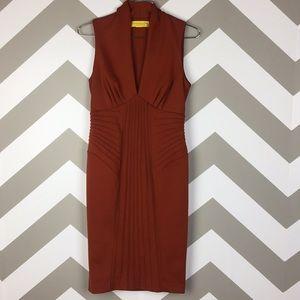 Catherine Malandrino Orange Sleeveless Dress 2