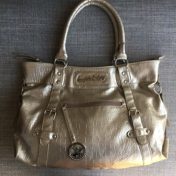 03b5fd94a3c5 Beverly Hills Polo Club Handbags - BOGO Metallic Golden Purse