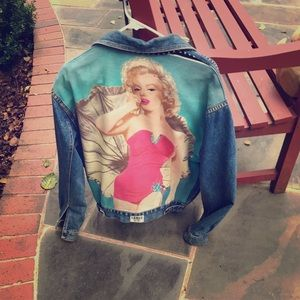 '79 Denim Jacket w Marilyn Monroe