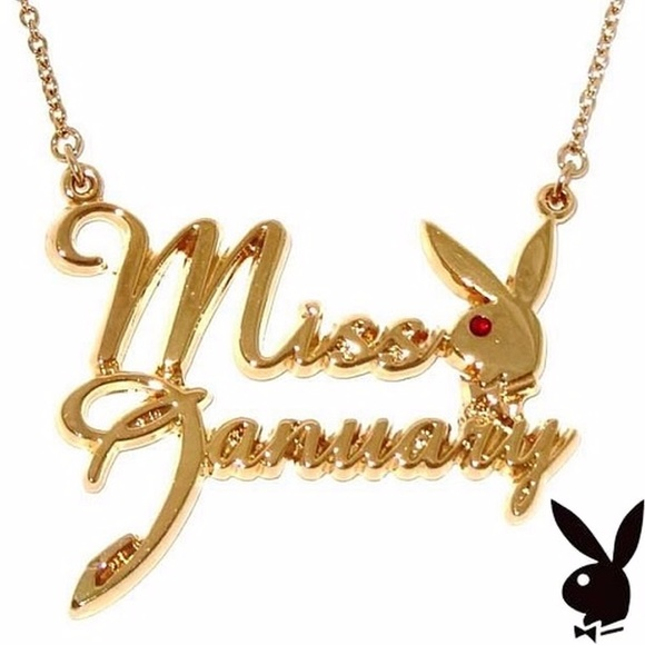 Playboy Gold Plated Miss May Necklace 4cKKX4xhIU