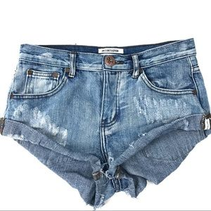 One X Teaspoon Jean Shorts Bandits Twisted Cuff