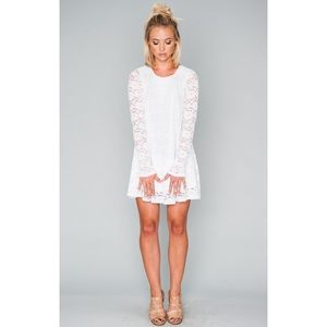 SHOW ME YOUR MUMU white lace babydoll dress