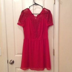 Red Sheer Lace dress