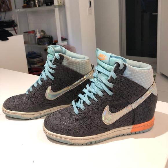 nike high top platform sneakers