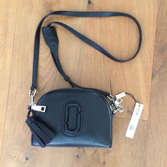 ac345ac30258 Marc Jacobs Black Leather Shutter Camera Bag
