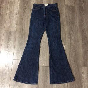 Current Elliot dark wash flare denim jeans size 25