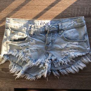 One Teaspoon Bonitas Denim Shorts (size 24)