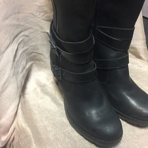 8c5875e0196 Women's UGG Lana Tall Black Leather Boots 1012904