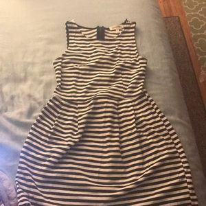 Black and white striped dress!