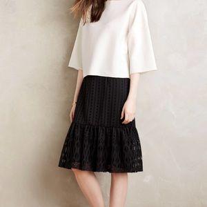 Anthropologie moulinette soeurs black skirt.