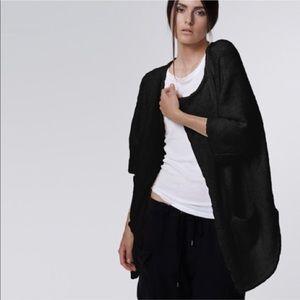 James Perse Black Wool Cardigan