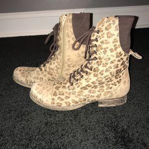Cheetah combat boots