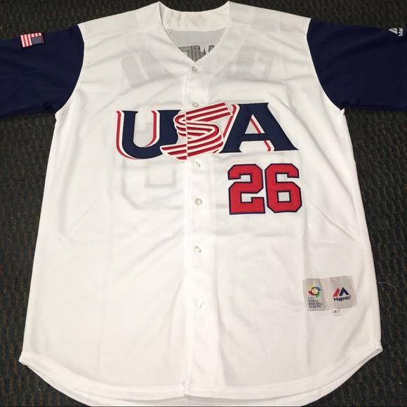 Brandon Crawford #26 Team USA Jersey