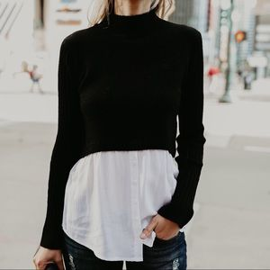 Sweaters - FINAL Sweater Contrast Top