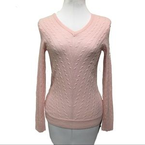Lilly Pulitzer Pink 100% cashmere sweater sz S