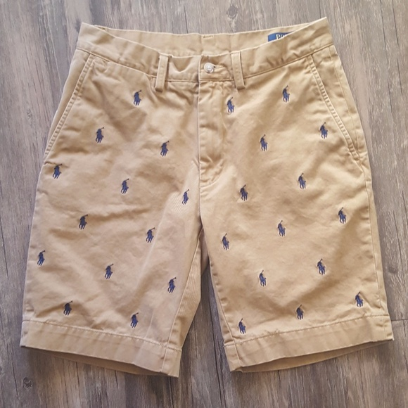 Polo By Ralph Lauren Shorts Polo Ralph Lauren Tan With All Over