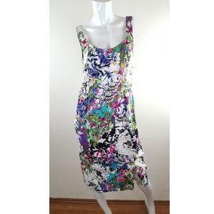 NICOLE MILLER sleeveless floral romantic sheath Dr