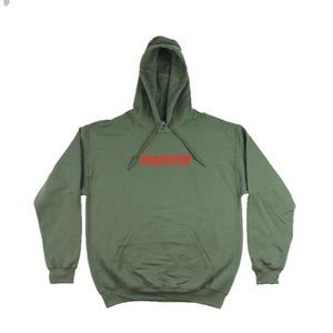 Trapstar Hoodie - Olive w/ Red