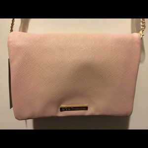 Blush Pink Mini Crossbody w/Chain Strap
