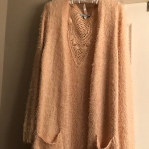 Women's Fuzzy Cardigan Sweater Size Medium
