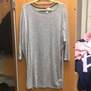Soft gray long sleeve dress